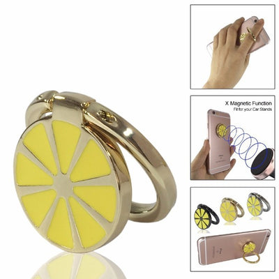 Lemon Metal Phone Ring Holder