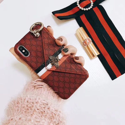 Luxury Ring Wallet Soft IPhone X Cover