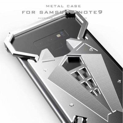 Luxury Shockproof Aluminum Metal Armor Ring Case for Samsung Note 9