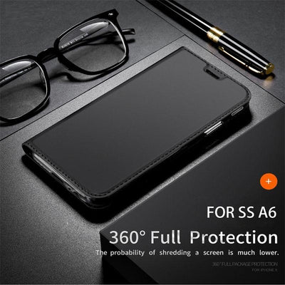 Luxury Wallet Samsung A6 Leather Cover