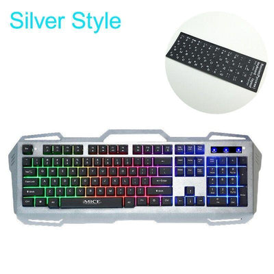 Metal Panel Floating Backlit Gaming Keyboard