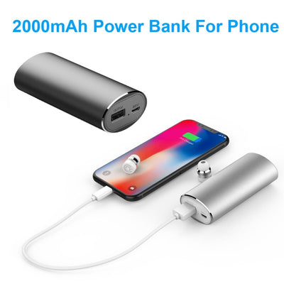 Stereo Earbuds With 2000mAH Portable Power Bank