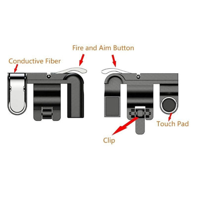 Mobile Game Fire Button Controller & joystick