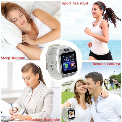 New Bluetooth Smart Watch With Camera Support SIM TF Card For IOS Android