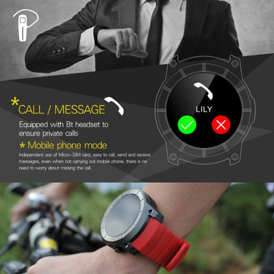 New GPS Track Nano SIM Card Barometer Heart Rate Sport Smart Watch