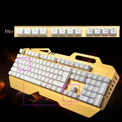 Rainbow Backlight Wired Mechanical Keyboard - thevallleyshop