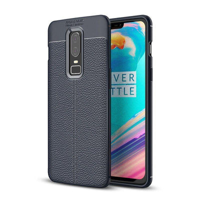 Shockproof litchi Leather Case For OnePlus 6
