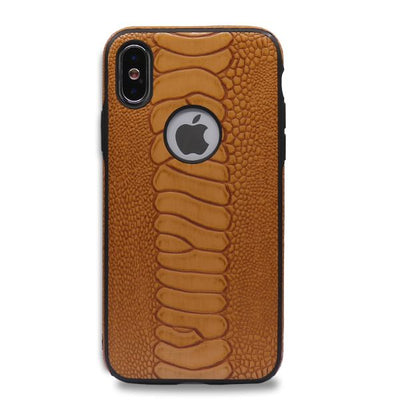 Snake TPU Leather IPhone X Case