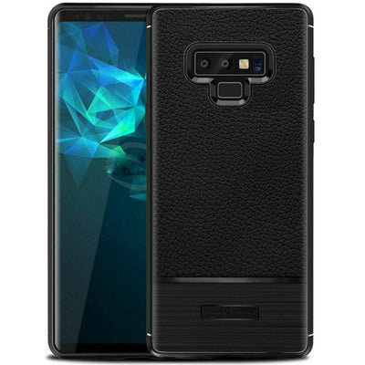 Soft Litchi Grain Rugged Armor Case For Note 9