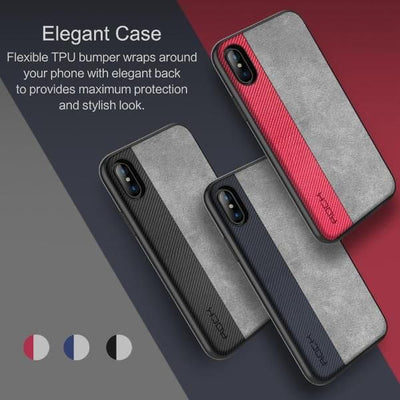 Splicing Leather Slim Case for iPhone X