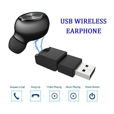 Mini Wireless Earbud with USB Dock