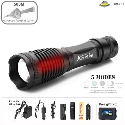Tactical Cree XM-L T6 Flashlight