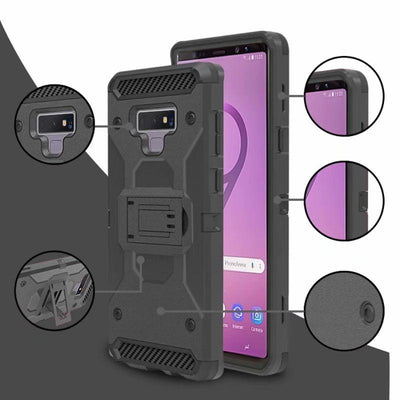Tough Belt Clip Armor Hybrid 3 in 1 Case For Note 9