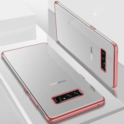 Transparent Plating Soft Note 8 Case