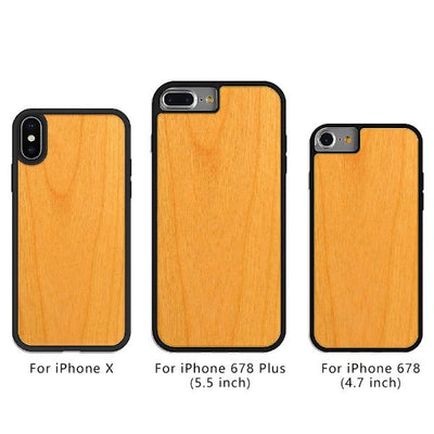iPhone Shockproof Wood Case