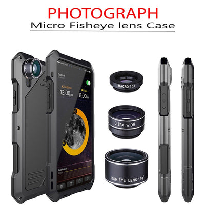 Multi Lens Photography Armor Case for iPhone
