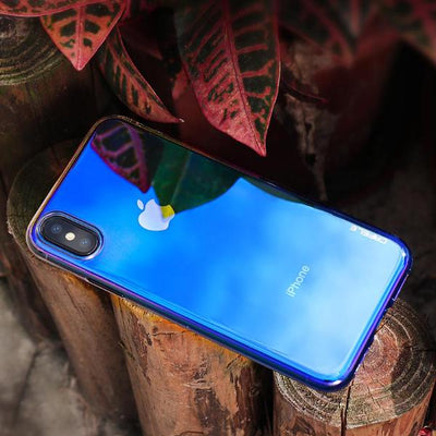 Reflective Blue Case for iPhone X