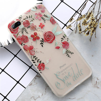 TPU Flower Patter iPhone Case