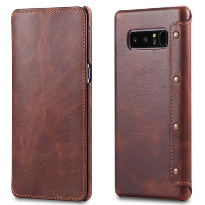 Cowhide Leather Slim Samsung Note 8 Case