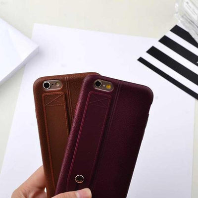 Leather Grip Holder IPhone 6 Cover