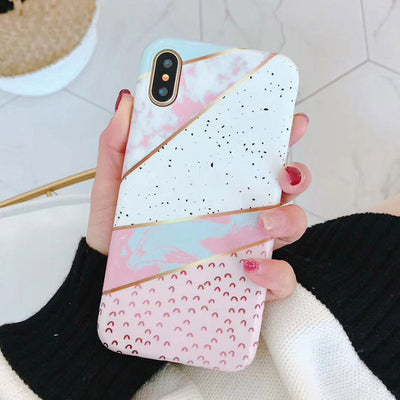 Lovely Color Marble iPhone Case