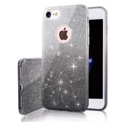 Pink Gloosy Glitter Case For iPhone
