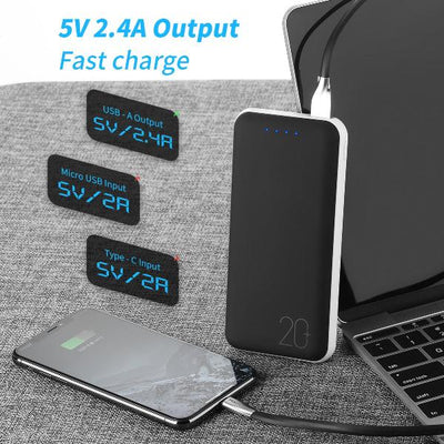 Fireproof 20000mAh Portable Power Bank