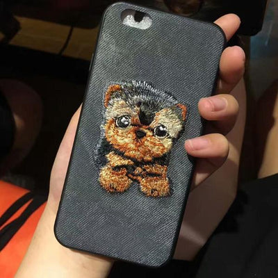 Embroidery Dog Case for IPhone 7