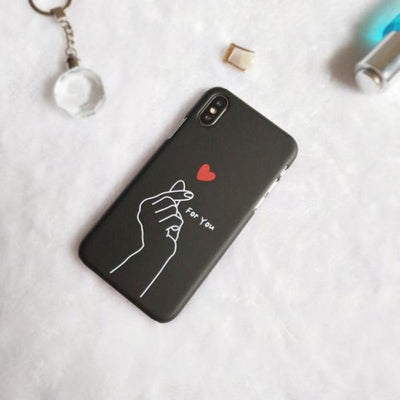 Heart Couple iPhone X Case
