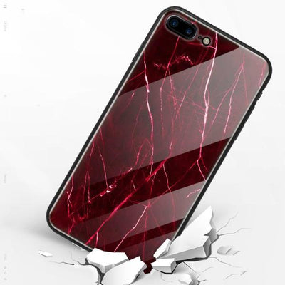 Red Tempered Glass Bumper for iPhone