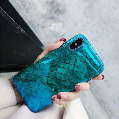 Fishy Scaled Soft Protective Case iPhone X