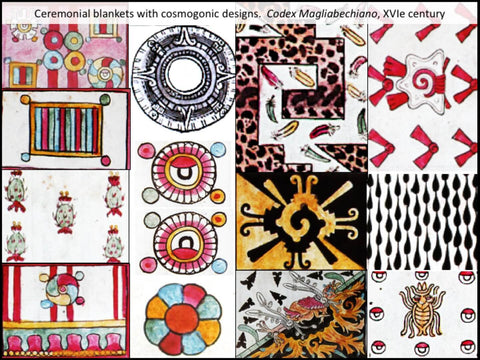 Prehispanic ceremonial cloaks with cosmogonic designs