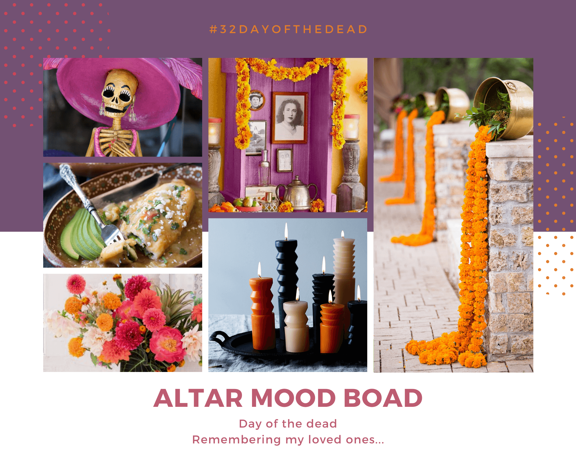 Day of the dead altar mood board