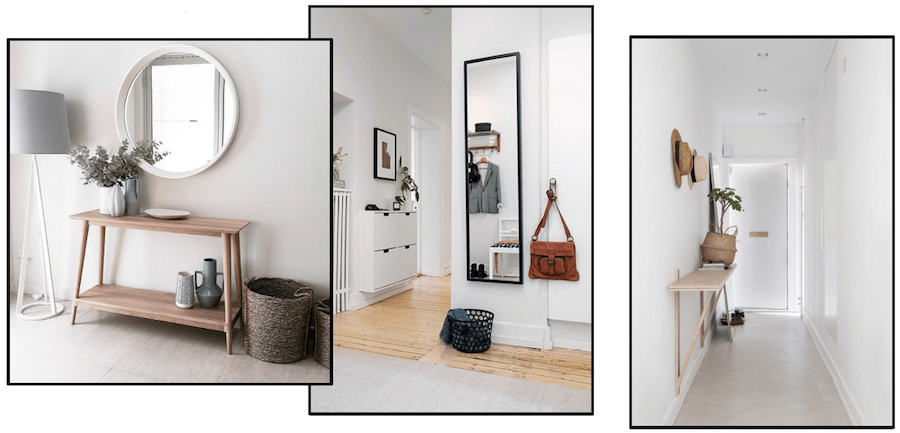 Example of scandi style entryway