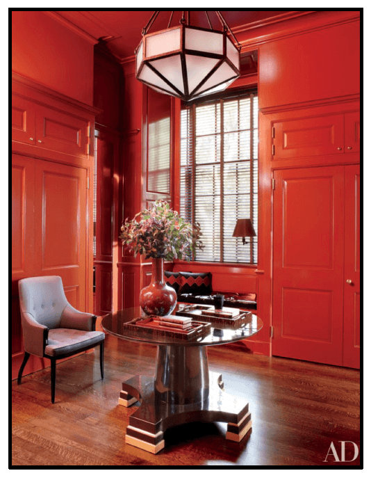 Example of a vibrant foyer