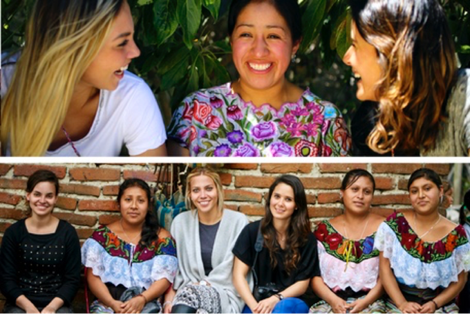 Maka México founders with artisan ladies