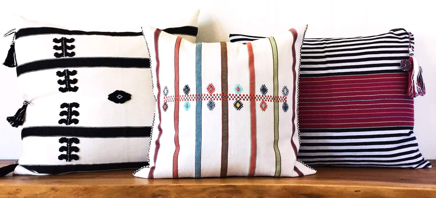 Mexican Style Pillow artisan made designed by Colorindio