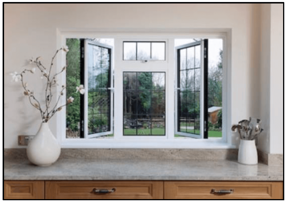 Fresh spring air with open windows