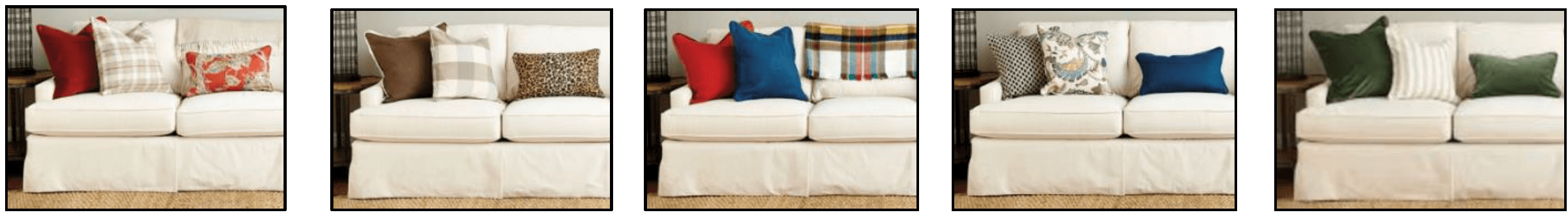 Replace cushions for spring to give a brand new look