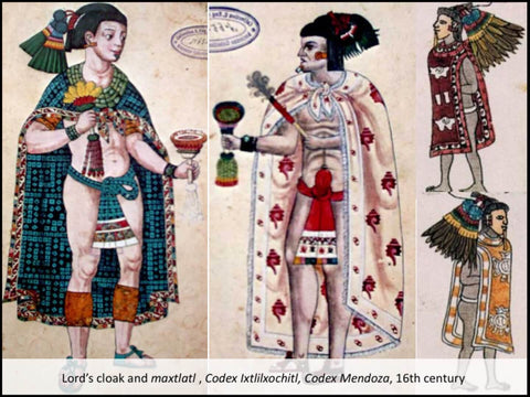 Loards wearing cloak in prehispanic times in Mexico