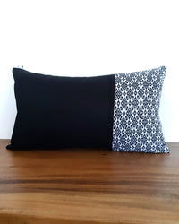 Black Decortive Pillow with White Details