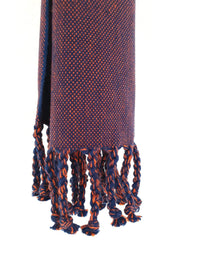 Cotton Denim Scarf Indigo Navy Handwoven Taabal
