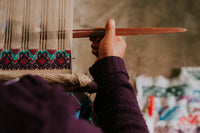 Folklor backstrap weaving handmade process