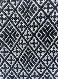 Folklor iPad Textil Case Black & Grey with embroidered brocades detail view