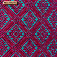 Detail view of brocade from Folklor Laptop textil case