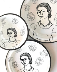 Frida Enamel Plate & Bowl Set
