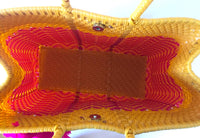 I-XU Unique Tote Bag yellow & pink top view