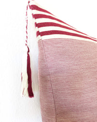 Lupita Vino Throw Pillow tassel detail view