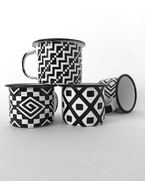 Collection of 4 Michoacan style espresso cups