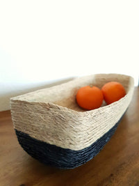 Palm bread basket with fruit